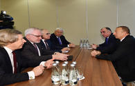 President Aliyev meets with OSCE MG co-chairs in Warsaw