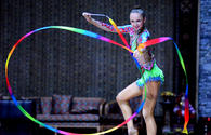 "Beauty and grace: performances with ribbon at FIG World Cup in Baku <span class=""color_red"">PHOTO</span>"