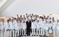 President Aliyev awards national Olympic team