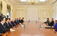 """President Aliyev receives Turkish ministers <span class=""""color_red"""">[PHOTO]</span>"""