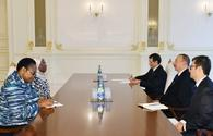 """President  Aliyev received African Union Commissioner for Political Affairs <span class=""""color_red"""">[PHOTO]</span>"""