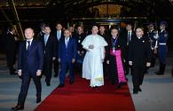 Pope Francis ends visit to Azerbaijan