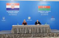 "Azerbaijani, Croatian presidents attend business forum in Baku <span class=""color_red"">[PHOTO]</span>"