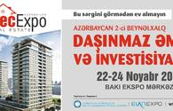 Recexpo ,International Real Estate and Investment Exhibition due in Baku