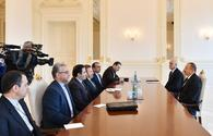 """President Aliyev receives Iranian delegation <span class=""""color_red"""">[PHOTO/UPDATE]</span>"""