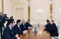 """President Ilham Aliyev received Turkish Foreign Minister <span class=""""color_red"""">[PHOTO/UPDATE]</span>"""