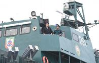 "President Aliyev views newly-constructed ""Tufan"" ship of SBS Coast Guard <span class=""color_red"">[PHOTO]</span>"