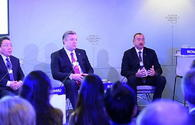 "President Aliyev attends ""The Silk Road Effect"" session in Davos"