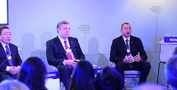 """President Aliyev attends """"The Silk Road Effect"""" session in Davos"""