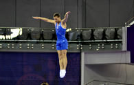 Azerbaijani trampoline gymnast wins silver at FIG World Cup