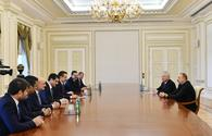 "President Aliyev receives Turkish delegation <span class=""color_red"">[PHOTO]</span>"