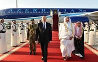 President Ilham Aliyev arrived in Qatar for official visit