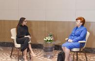 "First VP Mehriban Aliyeva holds several meetings in Baku <span class=""color_red"">[UPDATE/ PHOTO]</span>"