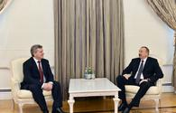 "President Aliyev holds several meetings on sidelines of Global Baku Forum <span class=""color_red"">[UPDATE / PHOTO]</span>"