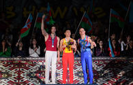 "Winners of second day of Baku World Cup in artistic gymnastics finals awarded <span class=""color_red"">[PHOTO]</span>"