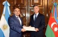 Azerbaijani envoy presents credentials to Argentine President