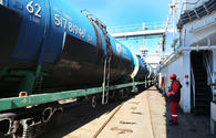 "Azerbaijan receives first cargo from Kazakhstan's Kuryk port <span class=""color_red"">[PHOTO]</span>"