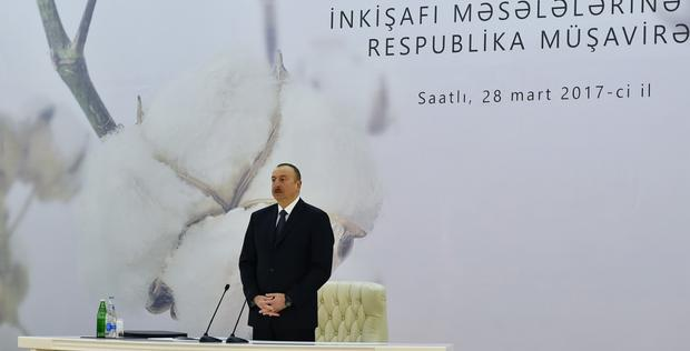 "President Aliyev attends conference on development of cotton-growing <span class=""color_red"">[UPDATE / PHOTO]</span>"