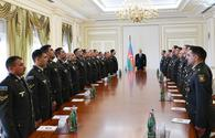 "President Aliyev receives group of servicemen on anniversary of April victories of Azerbaijani Army <span class=""color_red"">[UPDATE / PHOTO]</span>"