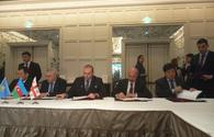 "Azerbaijan, Kazakhstan, Georgia ink protocol on Trans-Caspian transport corridor <span class=""color_red"">[PHOTO]</span>"
