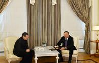 Ilham Aliyev meets All-Russia State Broadcasting Company's Vladimir Solovyov