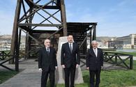 """President Aliyev views world`s first mechanically drilled oil well in Bibiheybat <span class=""""color_red"""">[UPDATE / PHOTO]</span>"""