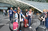 "Russian gymnasts arrive in Baku for FIG World Cup <span class=""color_red"">[PHOTO]</span>"