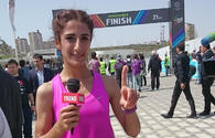 Turkish runner comes in first among women at Baku Marathon 2017