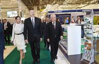 """Azerbaijani president, First Lady view World Food Azerbaijan, CaspianAgro exhibitions <span class=""""color_red"""">[UPDATE]</span>"""