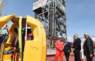 "President Aliyev attends opening of drilling plant <span class=""color_red"">[PHOTO]</span>"