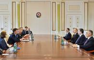 "President Aliyev receives EP delegation <span class=""color_red"">[UPDATE]</span>"