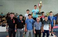 "Azerbaijani wrestlers snatch four medals in Georgia <span class=""color_red"">[PHOTO]</span>"