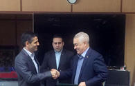 "Railway departments of Iran, Azerbaijan sign pact <span class=""color_red"">[PHOTO]</span>"