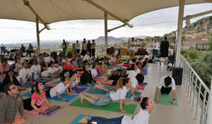 "Third International Yoga Day marked <span class=""color_red"">[PHOTO]</span>"