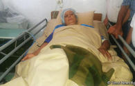 Azerbaijani MPs visit woman wounded by Armenian military provocation