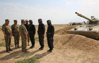 """Azerbaijani officials inspect combat readiness of units on frontline <span class=""""color_red"""">[PHOTO]</span>"""