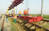 "Overhaul at Baku-Boyuk Kesik railway section continues <span class=""color_red"">[PHOTO]</span>"