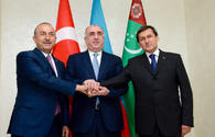 "Azerbaijani, Turkmen, Turkish FMs holding  preparation for summit of presidents <span class=""color_red"">[UPDATE/PHOTO]</span>"