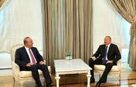 """President Ilham Aliyev receives Turkish Foreign Minister <span class=""""color_red"""">[UPDATE]</span>"""