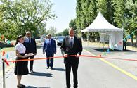"President Aliyev inaugurates highways in Gakh <span class=""color_red"">[UPDATE / PHOTO]</span>"