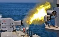 """""""G-124"""" warship of Azerbaijan Naval Forces successfully fired at sea target"""