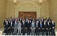 "President Aliyev receives squad of FC Qarabag <span class=""color_red"">[UPDATE / PHOTO]</span>"