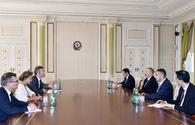 President Aliyev receives French delegation