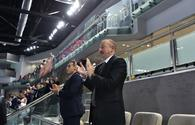 "Ilham Aliyev watched Azerbaijani women's volleyball team match <span class=""color_red"">[PHOTO]</span>"