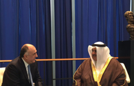 Azerbaijani, Bahrain's FMs meet as part of UN General Assembly session