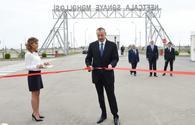 Azerbaijani president attends opening of Neftchala Industrial District