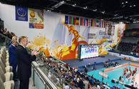 "President Aliyev watches Azerbaijani women's volleyball team match <span class=""color_red"">[PHOTO]</span>"
