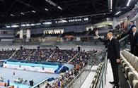 Ilham Aliyev watched Azerbaijan-Turkey volleyball match