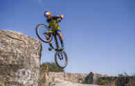 "Watch a mountain biker ride in Gobustan <span class=""color_red"">[VIDEO/PHOTO]</span>"