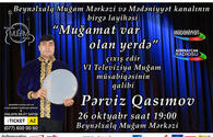 """Mugham singer to give concert in Baku <span class=""""color_red"""">[VIDEO]</span>"""